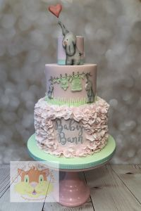 ELEPHANTS baby shower cake