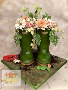 wellie boots cake