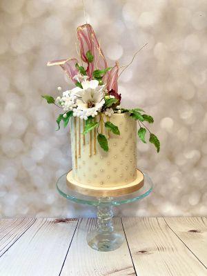 cosmos flowers cake