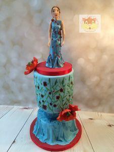 poppy model cake