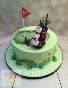 Golf bag cake