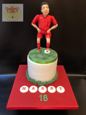 18th football cake