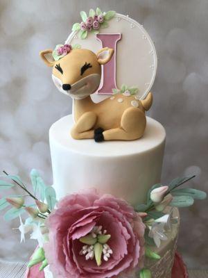 deer christening cake