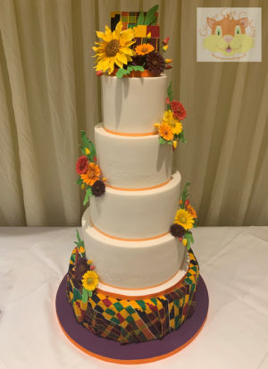 Kente wedding cake