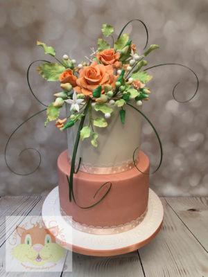 peach flowers anniversary