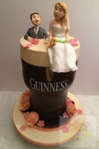 Guinness wedding cake