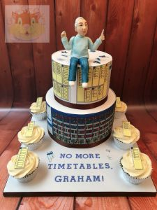 Timetable retirement cake