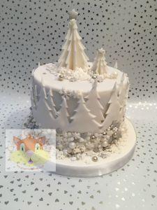 Xmas trees cake