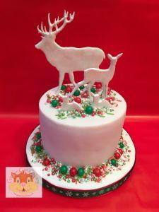 Deers Xmas cake