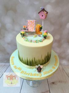 gardening cake - 80th