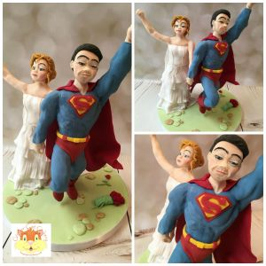 Superman wedding models