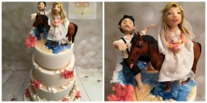 Wedding Cake Surfer Horse Cake