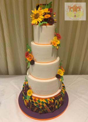 Kente wedding cake