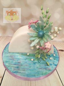 sea bract Christmas cake